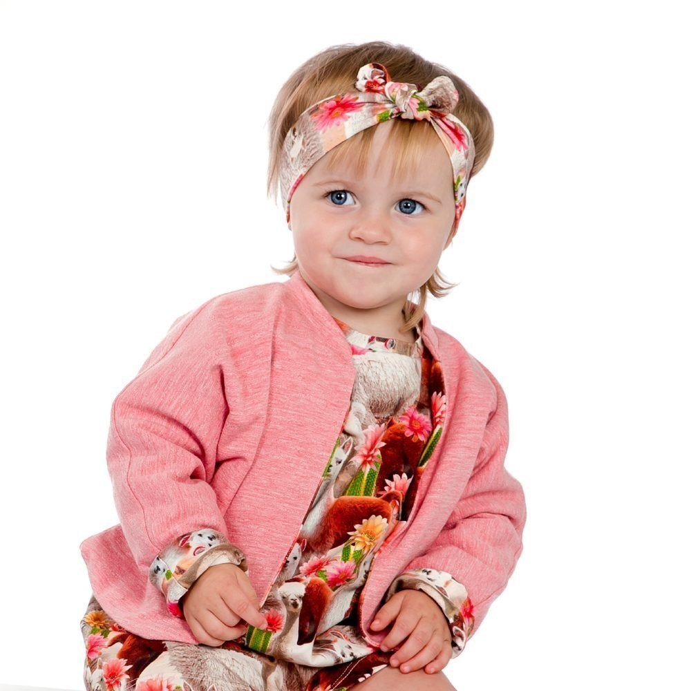 Our first baby collection, warm and colorful jacket made out of soft and comfortable organic jersey. The jacket is reversible and fun to combine .