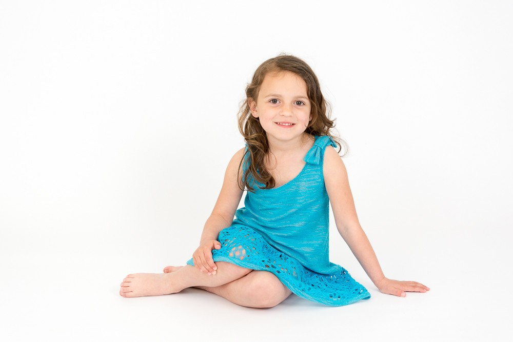 summer dress in turquoise colors