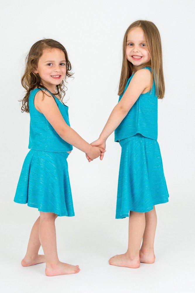 meisjes-topje-rokje-turquoise