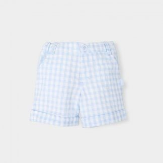 light-blue-check-short