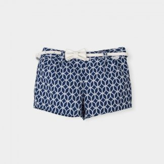 short-navy blue-white motifs