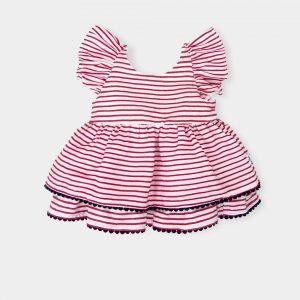 baby-meisje-jurkje-plissé-rood-wit-gestreept
