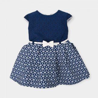 dress-navy-blue-ton-sur-ton-relief