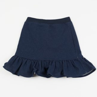 skirt-dark blue-jeans-elastic-waist