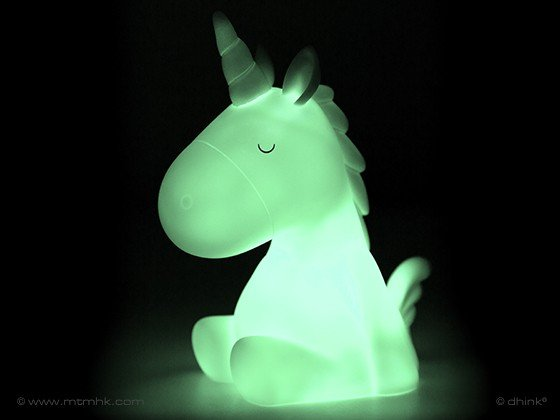 Eenhoorn nachtlampje groen