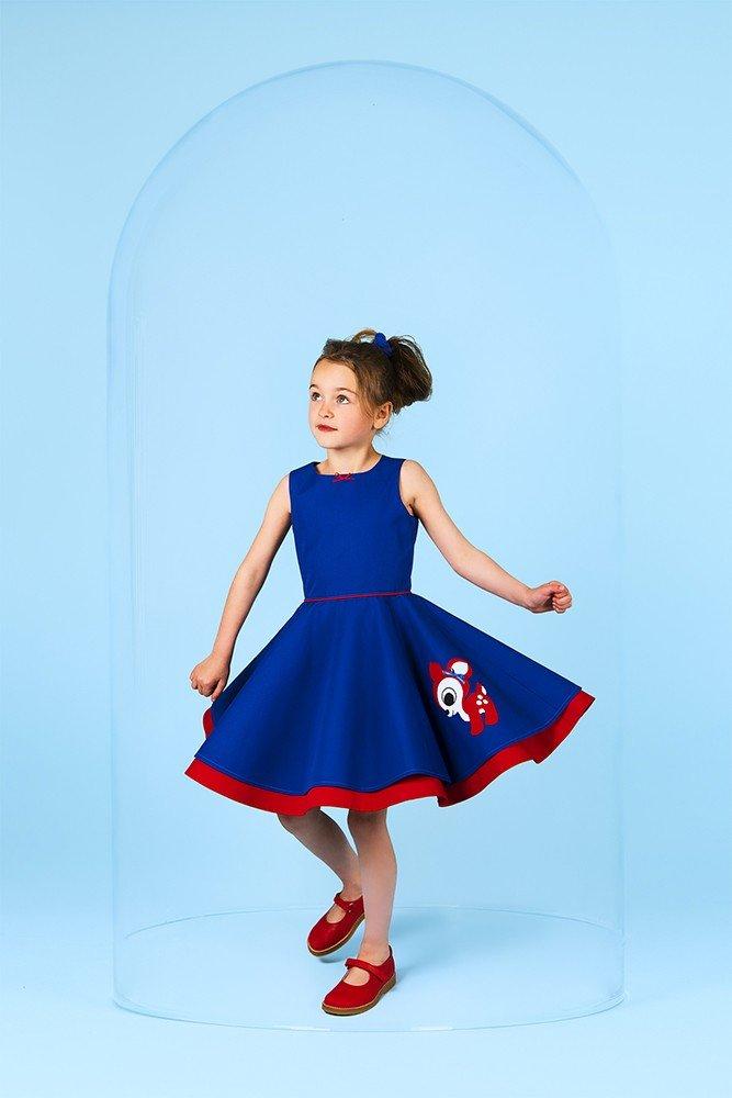swing-deer-blue-dress