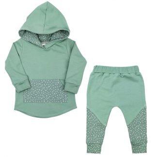 hoodie-pakje-groen-met-print