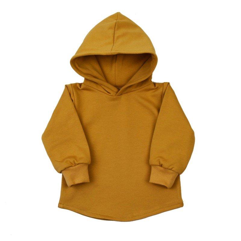 comfortabele-hoodie-met-kap-okergeel