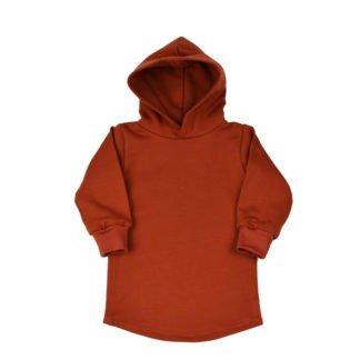 hoodie-jurkje-capuchon-terracotta