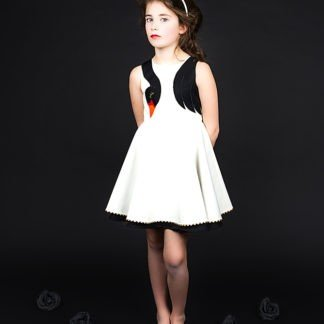 swan-black-and-white-dress