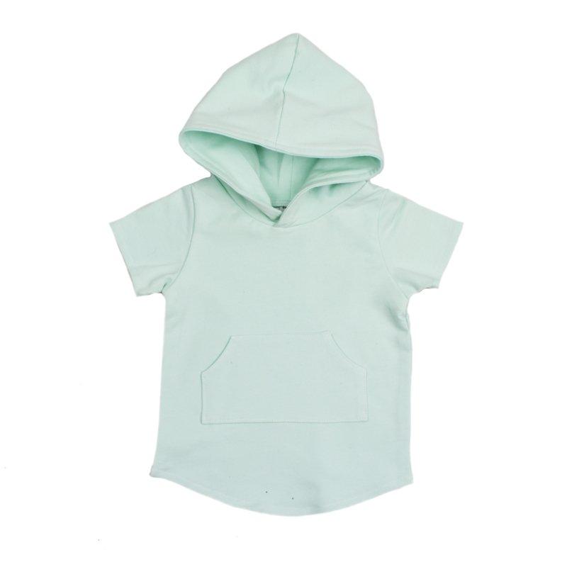 hoodie-kids-mint-short-sleeve