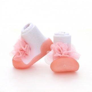 kinderschoentje-corsage-roze